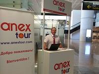 Оперативный стенд ANEX Tour в аэропорту Барселоны