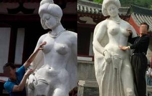 В Китае туристам пытаются запретить «лапать» статуи