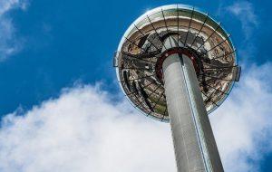 В Англии открылась самая высокая в мире подвижная смотровая площадка