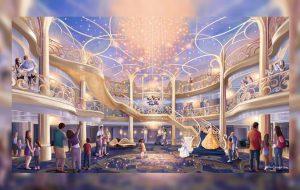 Disney показал интерьеры своего нового круизного лайнера с Рапунцель